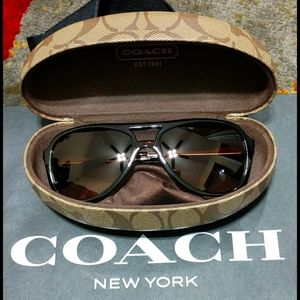 Coach Sunglasses Dark Tortoise Gold Irma